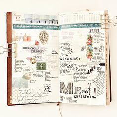 Last week in the Vertical Weekly insert for my Midori Traveler's notebook. Hope everyone is enjoying the holidays! As usual I decorate with stamps (some from @_sakuralala_), washi, stickers, and other ephemera.