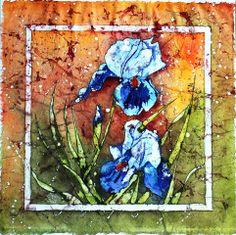 Aquarelle - Watercolor - flowers - Iris - 40x40cm - ©sandratuet.com