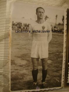 FOTOGRAFIA INEDITA DE FUTBOL JUGADOR ELCHE F.C LAHUERTA ORIGINAL DEL 5 OCTUBRE 1947, CAMPO ALTABIX