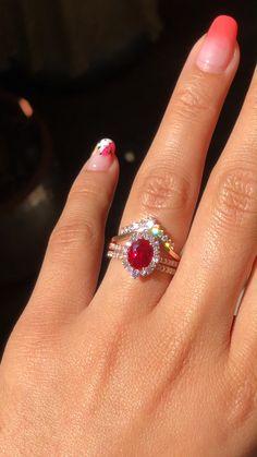 73 Best Ruby Diamond Rings Images Ruby Diamond Rings Diamond