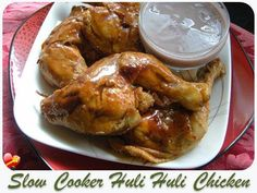 Moist and tasty Huli Huli Chicken slow cooker recipe. Get more Hawaiian and local style recipes here. Crockpot Dishes, Crock Pot Slow Cooker, Crock Pot Cooking, Slow Cooker Chicken, Slow Cooker Recipes, Crockpot Recipes, Cooking Recipes, Great Recipes, Favorite Recipes