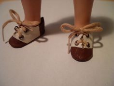 "- 30mm Blythe Shoes 12/"" fashion doll shoe 12inch Vintage Boots Dollmore Brown"