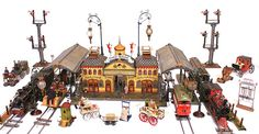 Marklin Gauge 2 Onion-Dome Train Station with accessories, 1900