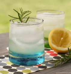 Rosemary Gin Spritzer - remember you can substitute 1 - 1 1/2 tsp of dried rosemary from a fresh sprig