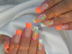 Photo Cute Nail Art Designs, New Nail Art Design, Colorful Nail Designs, Beautiful Nail Designs, Best Acrylic Nails, Acrylic Nail Art, Fancy Nails, Pretty Nails, Spring Nails