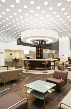 Like the dotted lights on ceiling - could be used on walls