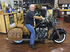 Vernon came from Chatham, VA & chose a HOT black Indian Vintage - Congratulations! http://www.IndianMotorcycleGreensboro.com