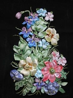 ribbon embroidery designs | Silk Ribbon Embroidery Designs and Stitches