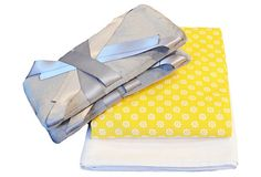 3-Pc Crib Bedding Set, Dove Gray/Yellow on OneKingsLane.com