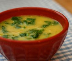 Sopa de Batata, Alho-Poró e Espinafre