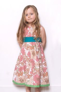Pink Vintage flowers party dress by LittleBinks on Etsy