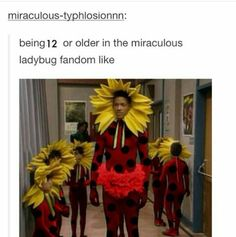 Is it just me or is this post even better since they're all wearing spandex outfits similar to Ladybug's suit?!? XD