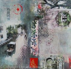 Ancient Suzhou - Mixed Media Collage