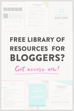 Want TONS of free resources to help you grow your blog, hone in on your message, and create a strong online brand? This library for bloggers is full of ebooks, worksheets, a media kit, and more...for free!