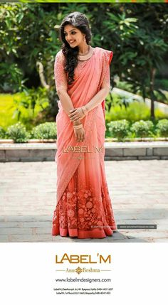 Super ideas for flowers photography fashion pastel Kerala Engagement Dress, Engagement Saree, Engagement Dresses, Half Saree Lehenga, Bridal Lehenga, Saree Wedding, Lehenga Gown, Net Saree, Wedding Hair