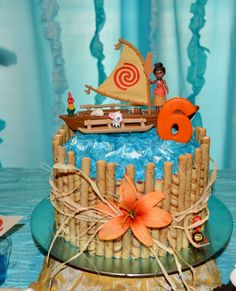 Image result for moana and trolls on one cake