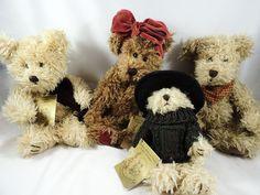 4 BARBARA BUKOWSKI 1990 STOCKHOLM OLD ENGLISH JOINTED TEDDY BEARS