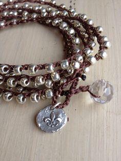 Bohemian style shabby chic silver beaded by MarleeLovesRoxy, $48.00