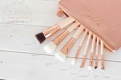 Zoeva Rose Gold Set broken down into which brush is for what beauty haul {zoeva, maybelline & rimmel} - cara fay | south african blogger