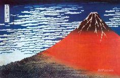 Le mont Fuji Affiche
