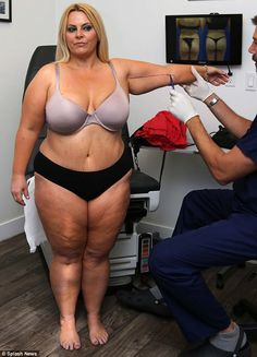 Dropped: At her heaviest, the television presenter weighed in excess of 152 kilos