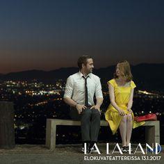 Mia: Outoa, että törmäämme aina toisiimme. Sebastian: Ehkä se tarkoittaa jotain. Mia: Tuskinpa.  Hurmaava LA LA LAND elokuvateattereissa nyt! @NordiskFilmFi