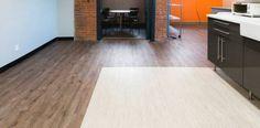 Parterre Luxury Vinyl Flooring Installation | InGrained: Lancaster Weathered 11409 + Fused: Infrastructure Glass 11625 | Vital Design | Corporate Flooring