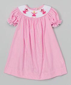 Love this Pink Gingham Cheerleader Bishop Dress - Infant, Toddler & Girls by Stellybelly on #zulily! #zulilyfinds