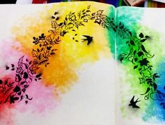 """Foi usada uma caneta de aquarela chamada """"Waterbrush"""", da Sakura. Ela funciona como um pincel, mas seu reservatório concentra bem menos água nas cerdas, então solta apenas a quantidade certa sobre o lápis aquarela, dando controle e evitando que o papel encharque!"""