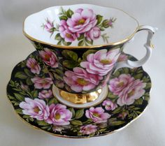 Royal Albert Flora Series ~ RAMBLER ROSE ~ Chintz Floral TEACUP cup saucer tea | Pottery & Glass, Pottery & China, China & Dinnerware | eBay!