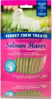 SMALL ANIMAL - CHEWS & TREATS - FERRET CHEW TREAT SALMON - USA - 1.87 OZ - NATURAL POLYMER - UPC: 657546111372 - DEPT: SMALL ANIMAL PRODUCTS