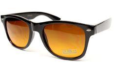 Blue Blocker Lens Vintage Retro 80s Wayfarer Sunglasses Mens Womens Black/brown Lens W90 Style Vault. $11.95