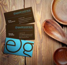 Cartão de visita E-gasttronômica | www.nuvemstudio.com