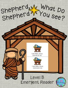 Shepherd, Shepherd What Do You See is a fun emergent reader to help children enjoy the true meaning of Christmas! Includes:17 page booklet in color and black and white.Sentence Structure is:Shepherd, shepherd, what do you see?I see a _____ looking at me. Includes a foldable.Have the children write the name of the person or thing undert he flap.
