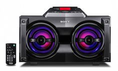 The Sony G-Tank is a powerful Hi-Fi System with iPhone/iPod dock. It can also play audio from cd's and gaming systems via USB port. The system has double illuminated 2 ways speakers at 220 watt power output. The G-Tank is also equipped with two 4cm tweeters to provide you with a complete range of sounds. It is a portable system as there are two handles mounted in front of the unit and there is also a remote which can control your iDevice when docked.