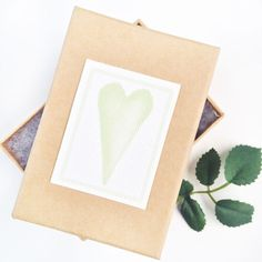 DIY Watercolor Canvas Labels - Perfect for adding texture to your Valentine's packages