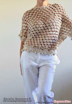Blusa diamantes delicados - Todo en calado ... (crochet) - País mamá
