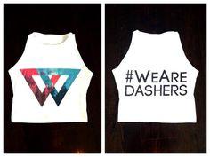 Custom crop tops we made for a couple of Dasher babes! #custom #customshirts #badkids #bad #badkidscollective #fashion #croptop #weare #dashers #dashberlin #trance