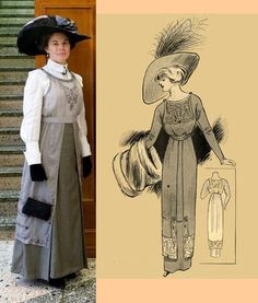 1910 Ladies Tunic from Eva Dress Reproduction patterns. $14