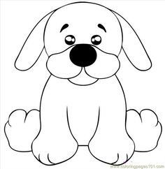 dog coloring pages . printable coloring page Draw A Black Lab Puppy Step 5 (Mammals > Dogs Puppy Drawing Easy, Drawing For Kids, Puppy Drawings, Puppy Coloring Pages, Coloring Pages For Kids, Kids Coloring, Colouring, Machine Embroidery Patterns, Applique Patterns