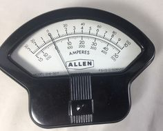 Vintage Amperes Meter 214-327 Simpson Allen Unique Shape #Allen