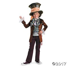 Boy's Deluxe Mad Hatter Costume - Small