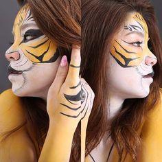 Bodypaint 【Tigar eye】  #facepaint #bodyart #bodypaint #facepainting #BodyArtValor #bodyartvalor #tigar #tigarface #tigereye  #ボディペイント #フェイスペイント #大阪 #大阪府枚方市 facepaint