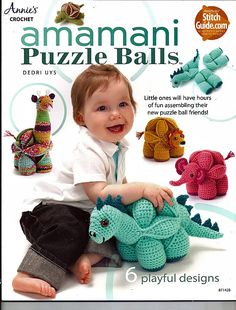 Amamani Puzzle Balls Crocheted Animal Puzzle Pattern Book