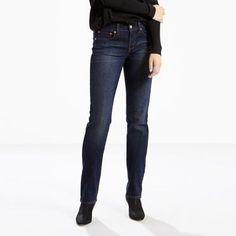 Levi's 414 Classic Stretch Straight Jeans - Women's 27x32