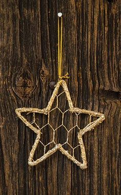 Glitter Vine/Wire Star Ornament