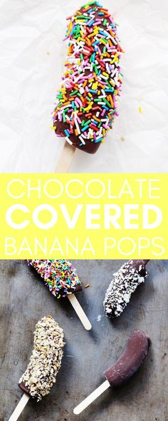 We are absolutely bananas for these gorgeous little pops! With only 3 simple ingredients, this healthy dessert or snack can be whipped up in no time. Plus, this recipe is super kid-friendly and easily (Bake Goods For Kids)