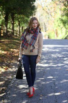-------OUTFIT DETAILS------- Club Monaco sweater || Merona scarf || J.Crew denim ||...