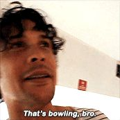 Bob Morley bowling with Eliza and friends.