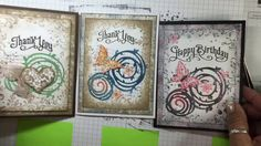 Stampin Up ~ Swirly Bird, Timeless Textures & Perfectly Penned